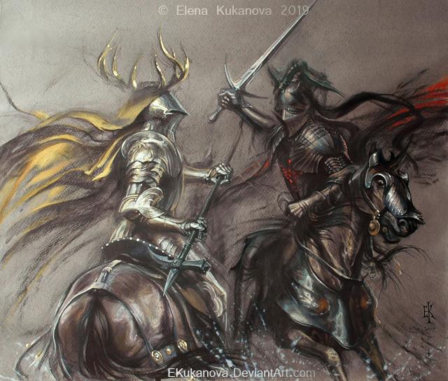 Battle of the Trident by EKukanova