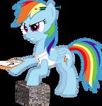 Rainbow Dash and the Gravel block