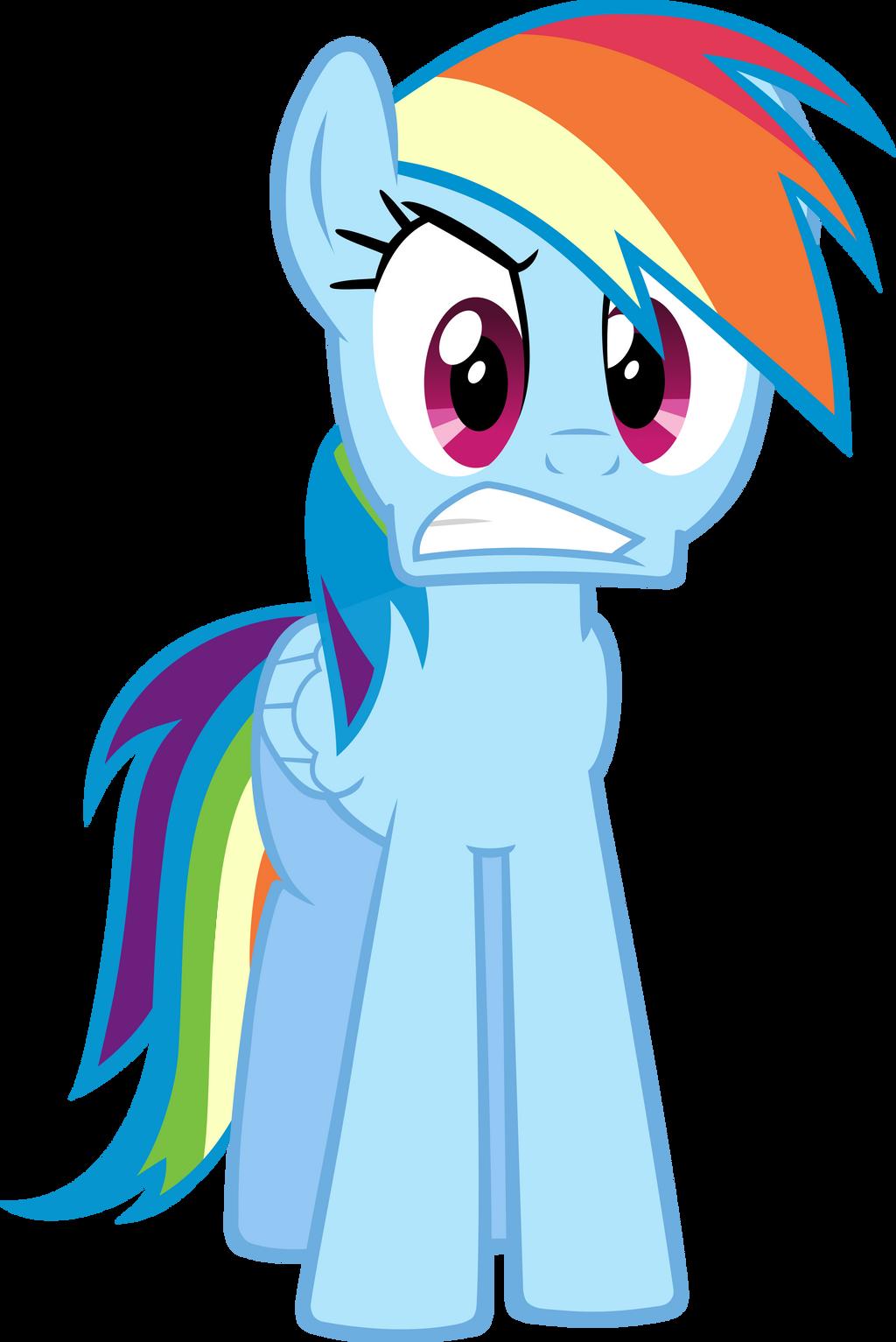 Rainbow Dash angry by RatchetHuN