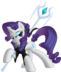 Rarity The Warrior by ItchyKitchy