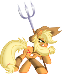 Applejack The Warrior by ItchyKitchy