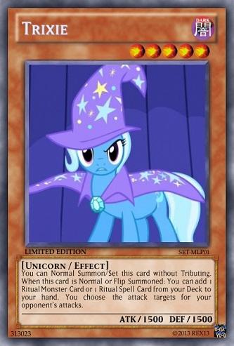 Trixie (MLP): Yu-Gi-Oh! Card by PopPixieRex