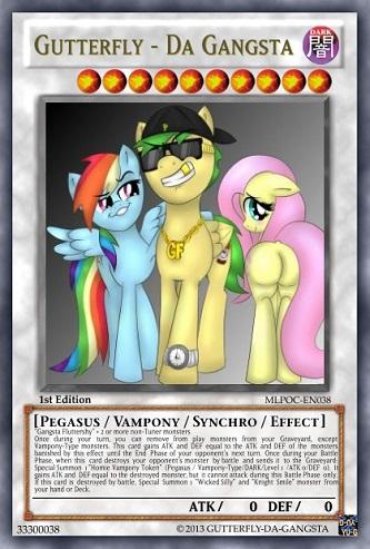 Gutterfly - Da Gangsta (MLP OC): Yu-Gi-Oh! Card by PopPixieRex