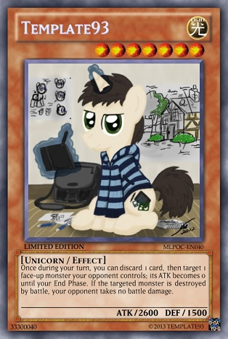 Template93 MLP OC Yu Gi Oh Card By PopPixieRex