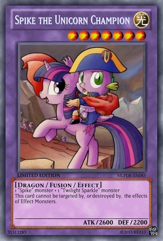 Spike the Unicorn Champion (MLP): Yu-Gi-Oh! Card by PopPixieRex