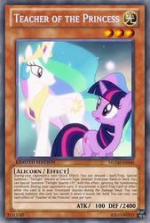 Princess Teacher (MLP): Yu-Gi-Oh! Card by PopPixieRex