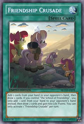 Friendship Crusade (MLP): Yu-Gi-Oh! Card by PopPixieRex