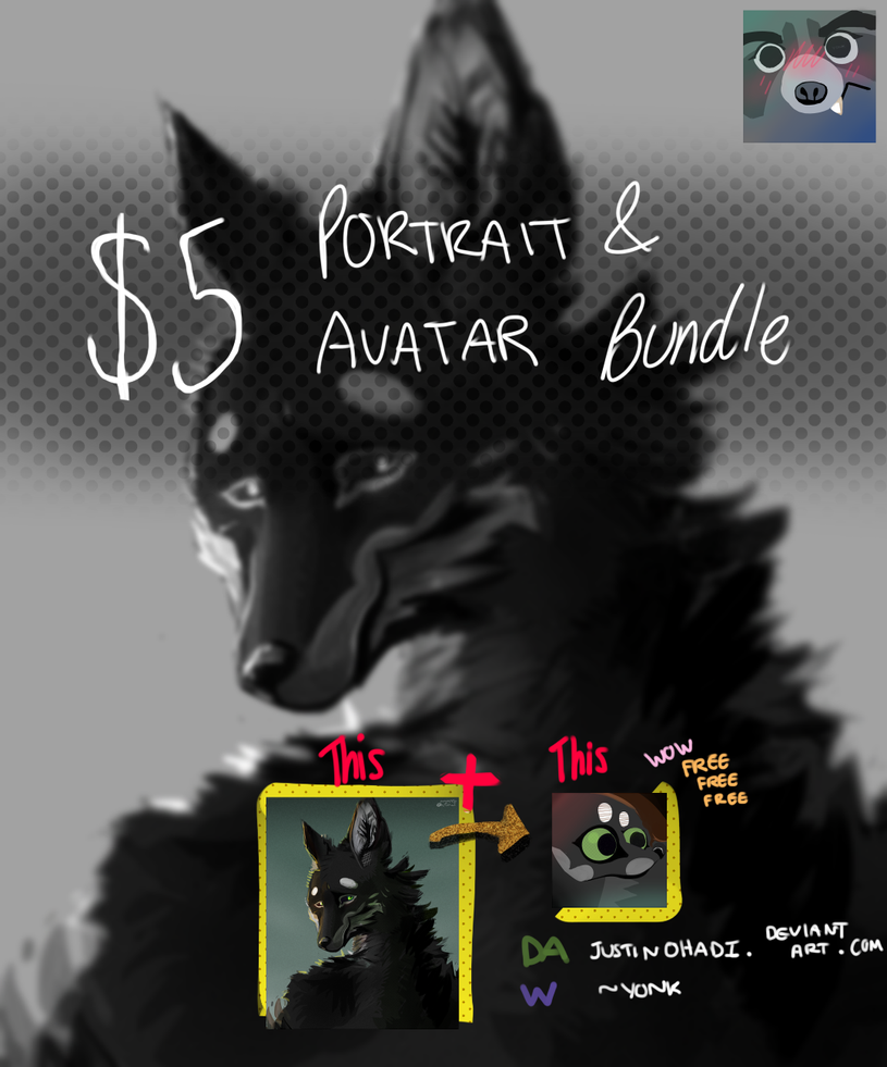 $5 Portrait and Avatar Bundle ad 3 by justinohadi