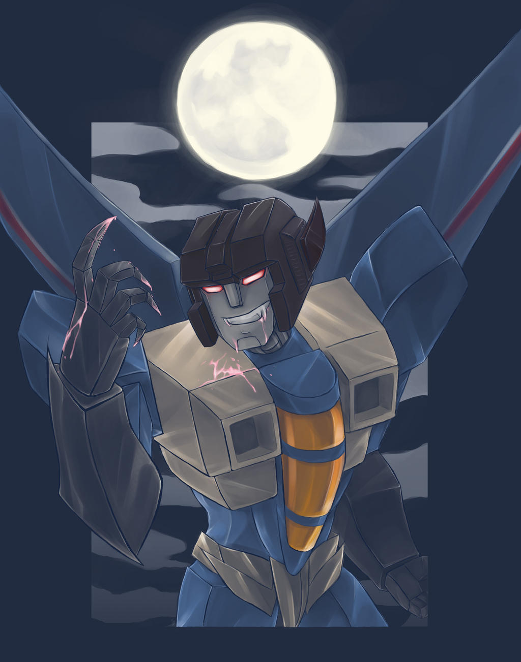 Seekerween Thundercracker by AshinGale-Effect