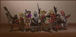 Futurama as Team Fortress 2