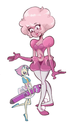Pink and her Pearl [colored]