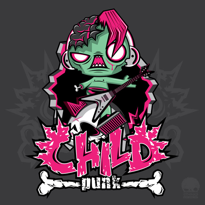 Child Punk Zombie by thinkd