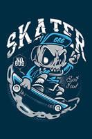 Skull Skater#2 by thinkd