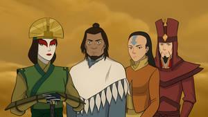 Avatar Kyoshi, Kuruk, Yangchen, and Szeto