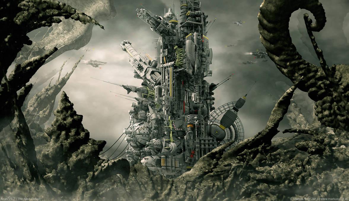 Axan VII-2   The Alien Desert by MarkusVogt