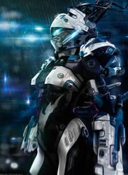 Neon City   The Future Cop 3 by MarkusVogt
