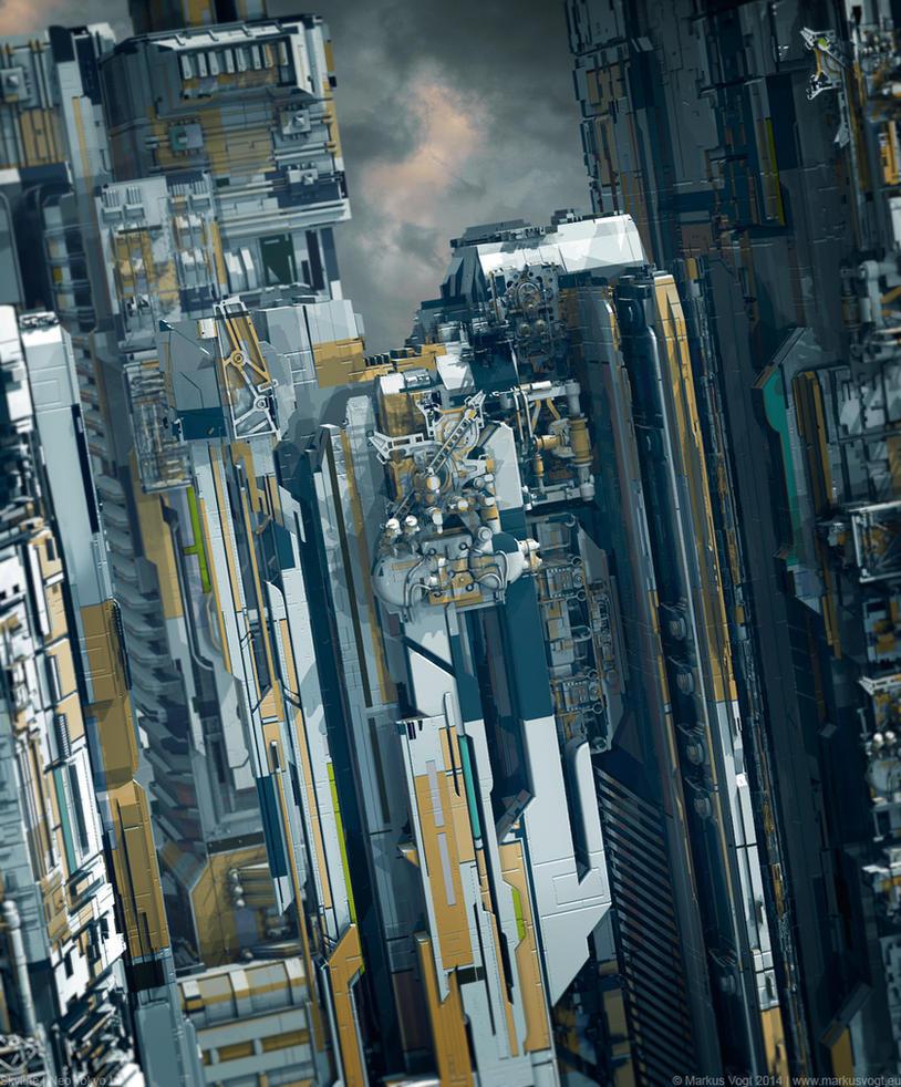 Skyline | Neo Tokyo I by MarkusVogt