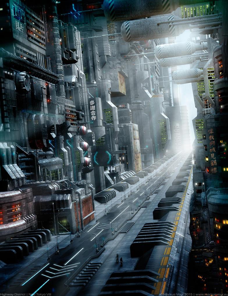 Highway District | Neo Tokyo VIII by MarkusVogt