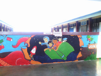 Mural I did for the school by SyahirahKhuzaizi