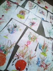 Flooring my students' artwork by SyahirahKhuzaizi