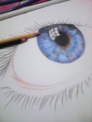 Me, trying to draw a realistic eye. by SyahirahKhuzaizi