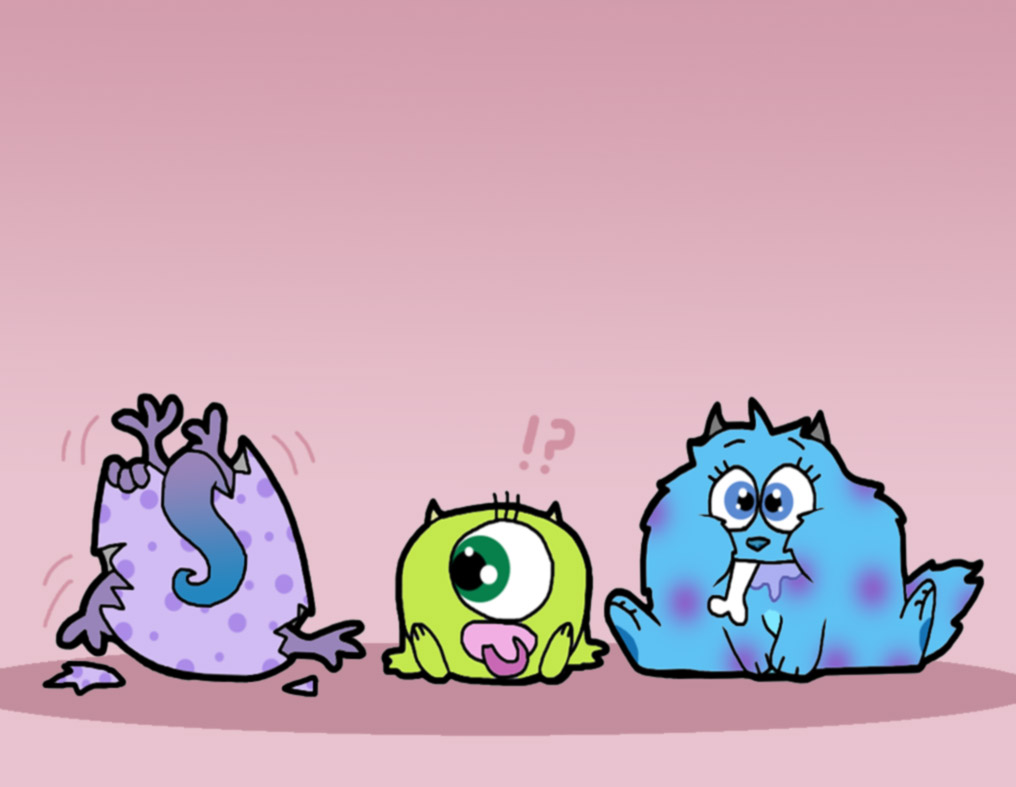 Baby Mike Wazowski And Sully Drawing