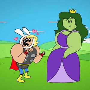 Thor The God and Princess She-Hulk