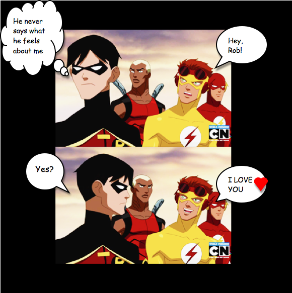 Kid Flash And Robin I LOVE YOU By Mari989 On DeviantArt