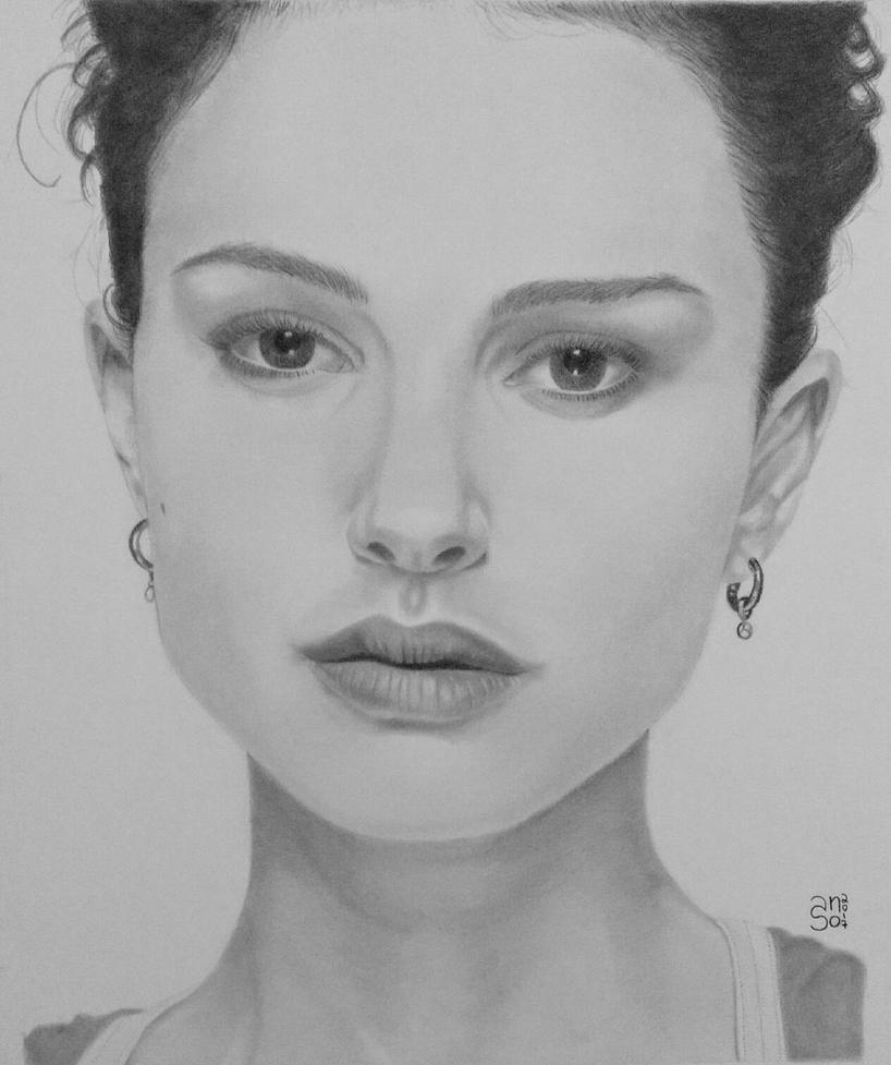 Natalie Portman portrait by shakuzino