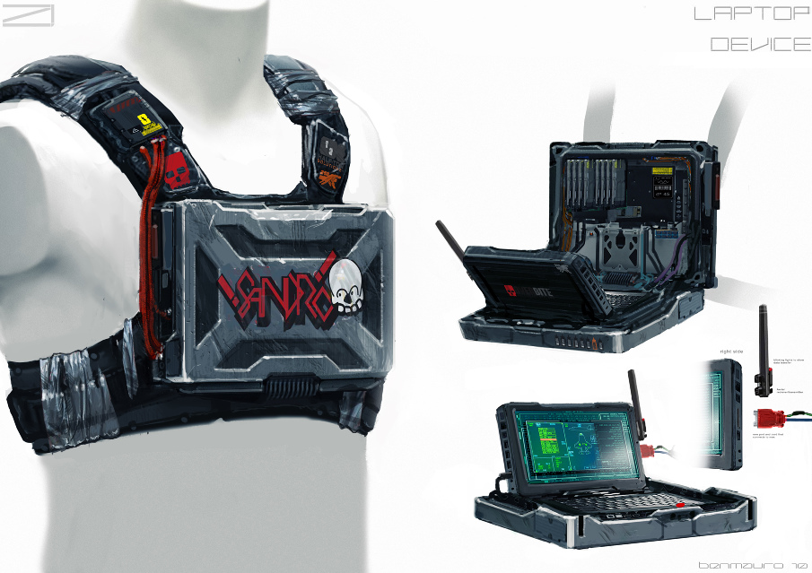 ELYSIUM - Sandros Laptop by BenMauro