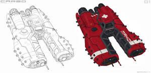 Cargo spaceship sketch