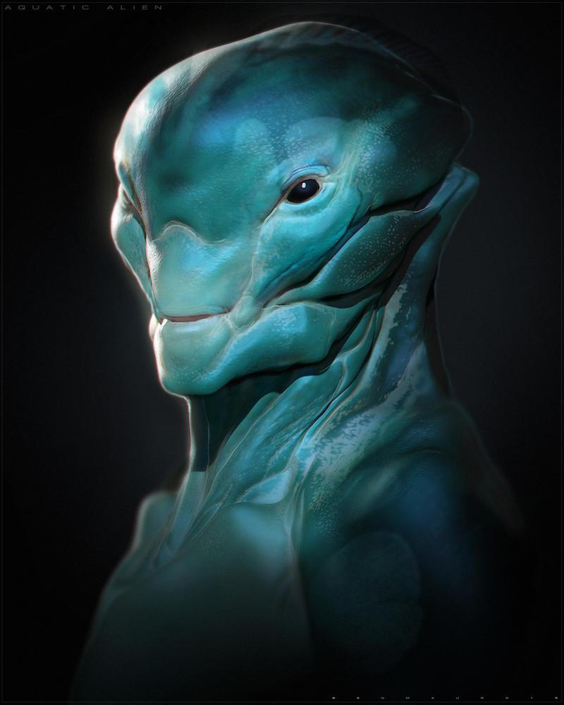 Aquatic Alien by BenMauro