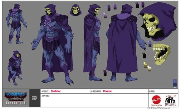 Skeletor Character Sheet MOTU Revelation