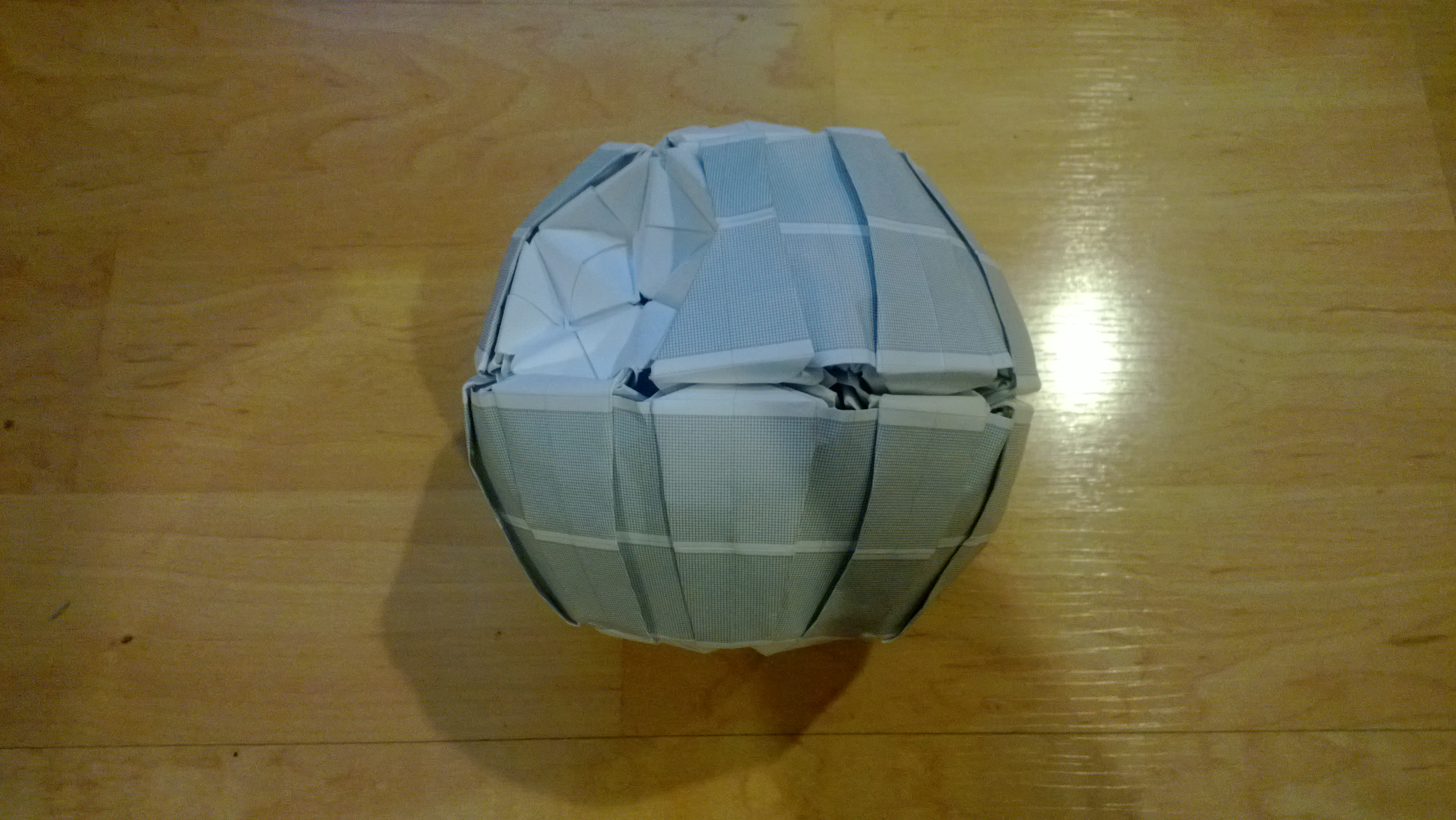decaled origami death star by taerkitty on deviantart
