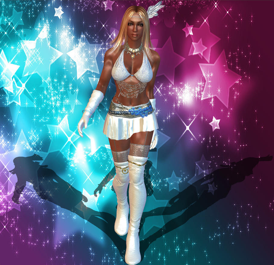 Rumble Roses XX Aisha Superstar Outfit V1.1 by darkblueking