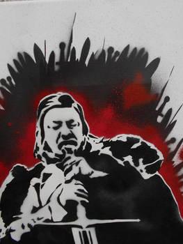 Eddard Ned Stark Stencil Painting