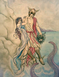 Perseus and Andromeda by eviltt