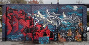 Mag and Rhino Halloween jam wall