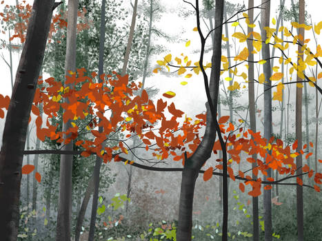 Speedpaint Autumn Forest practice