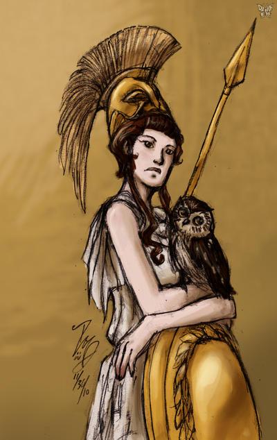 Athena by DeAnimeJ