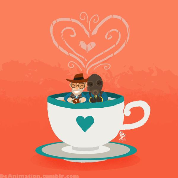 TF2: Tea Time Buddies by DeAnimeJ