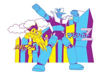 Astroboy vs Mazinger Z by slowdive