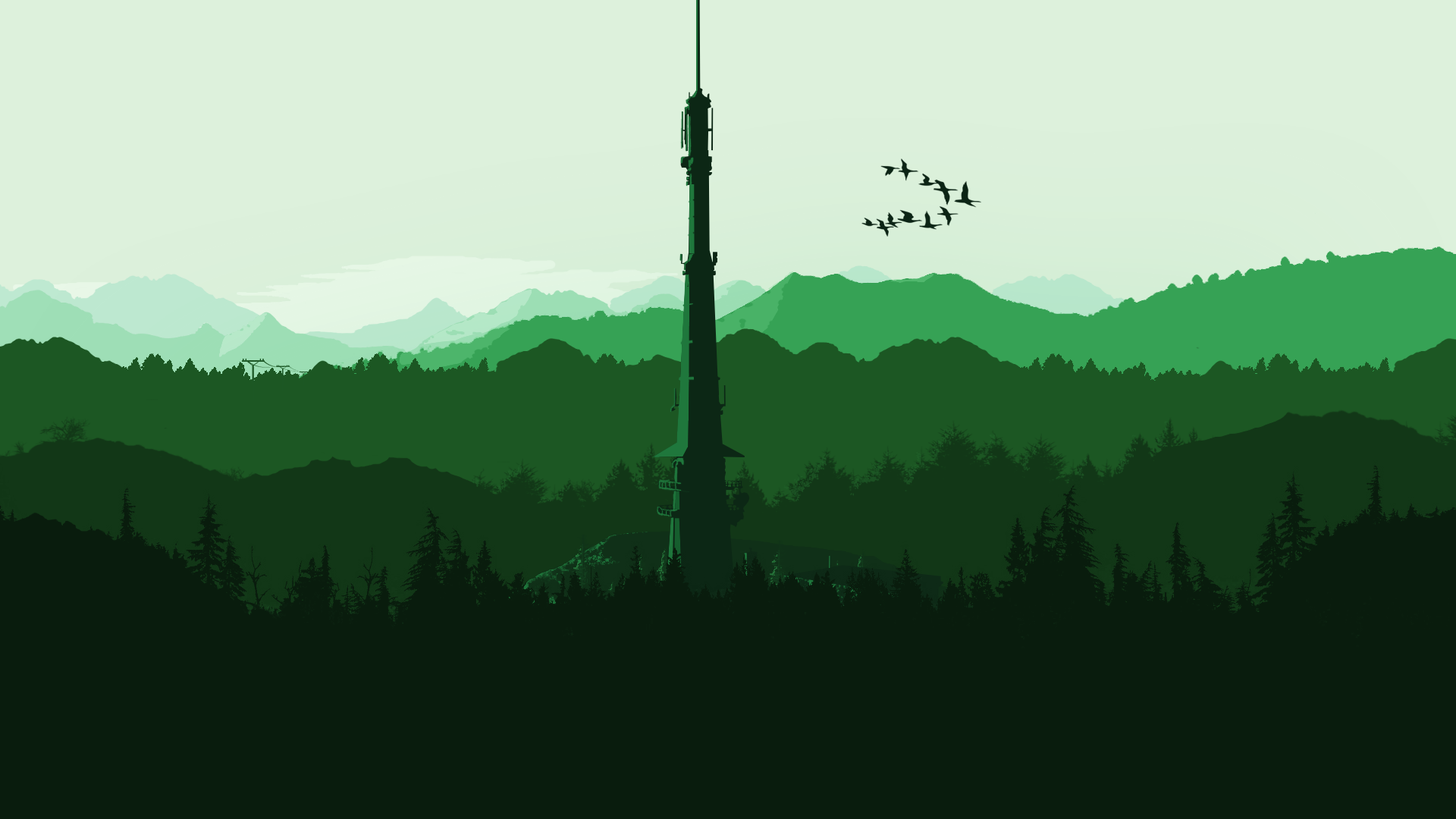 MediaI Made A Wallpaper In The Style Of Firewatch