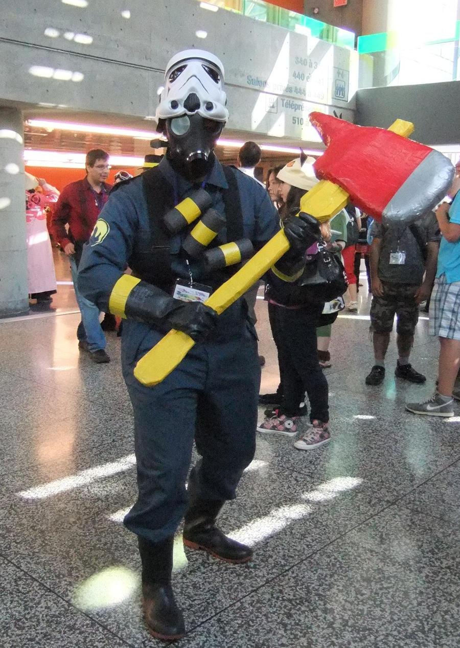 Pyro Tf2 Cosplay BLU Pyro cosplay by Sh...