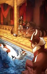 Bath Visit by caneqqy