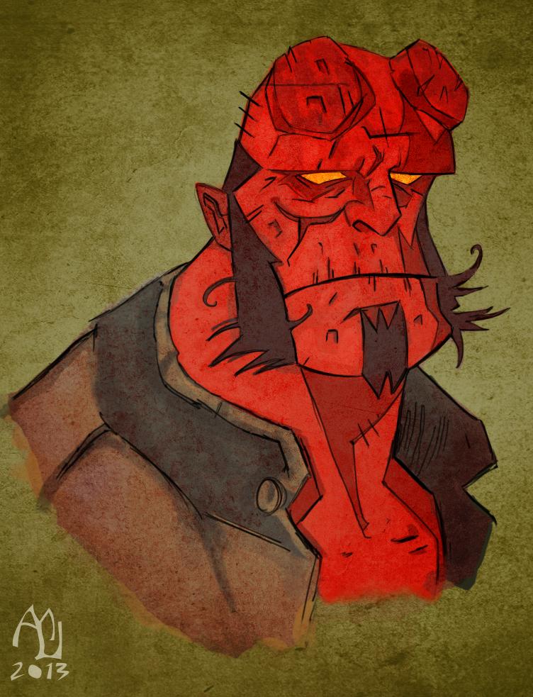 Hellboy by LukeMill