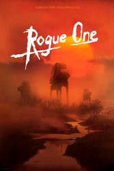 Rogue One. Star Wars anthology. Poster by tramvaev