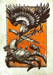 Raven vs. Crab