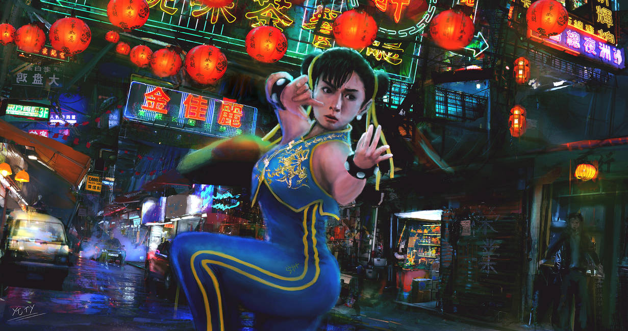 Chun Li. China Stage (Hong Kong)