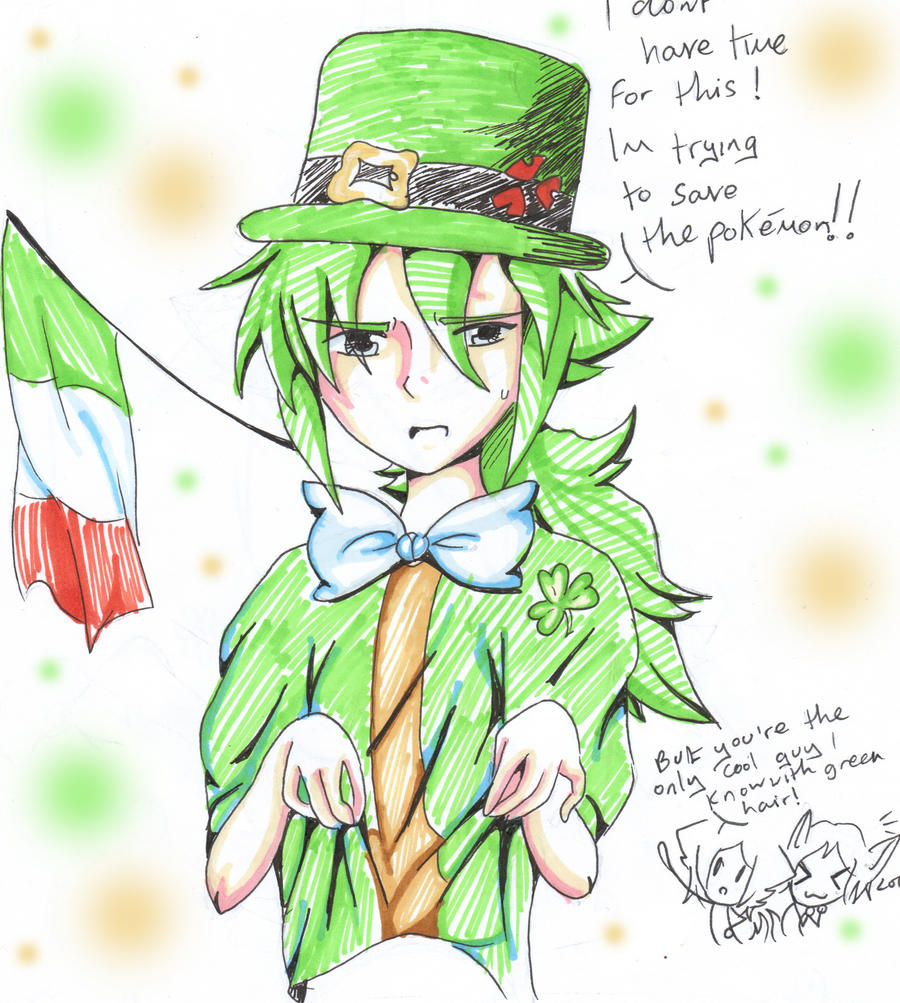 Green Hair-Irish by Jesterhoshi